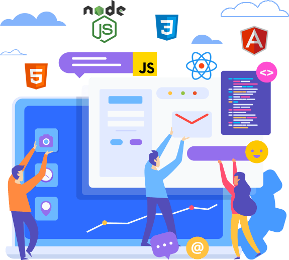 This describes the skills and technologies that a front end developer can use to design their websites and web apps.